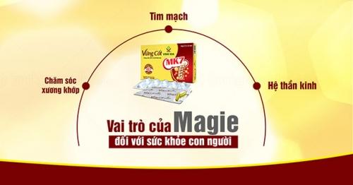 Vai trò của khoáng chất Magie đối với sức khỏe con người