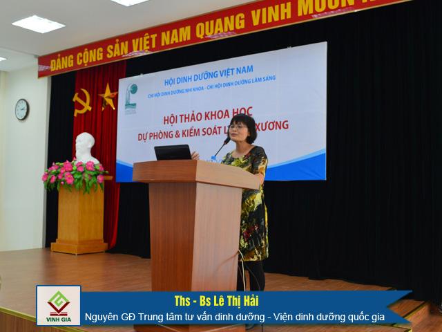 Ths - Bs Lê Thị Hải phát biểu tại buổi hội thảo