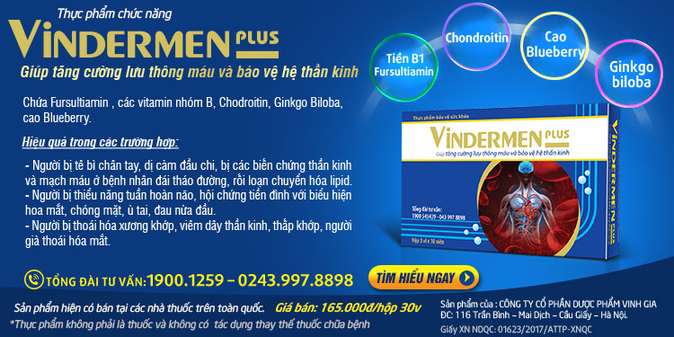 Tìm hiểu về sản phẩm Vindermen Plus được sử dụng khi bị thoái hóa cột sống